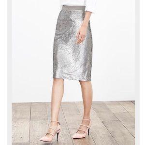 NWT Banana Republic Champagne Sequin Skirt